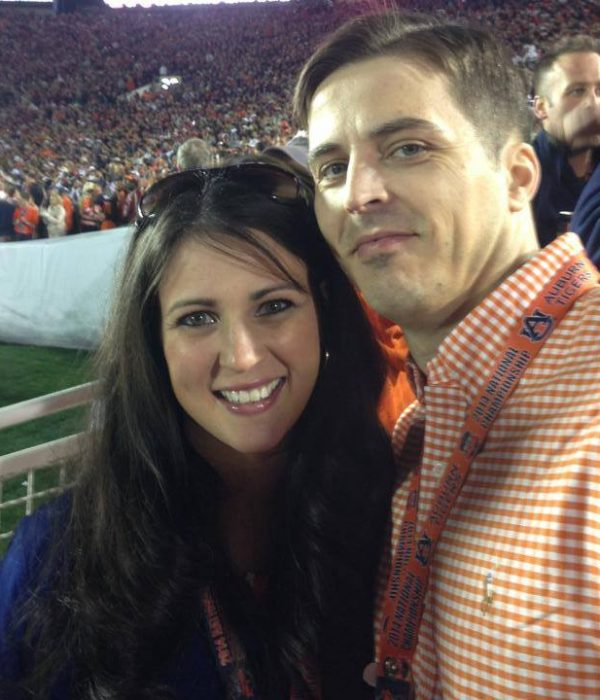 Clif & Rebecca at Football Game